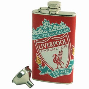 Liverpool Football Club Leather Flask